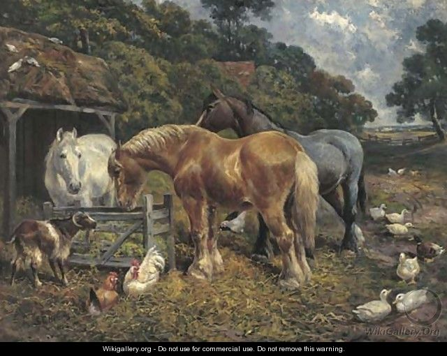 In the farmyard - (after) John Frederick Herring