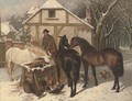 A winter feed - (after) John Frederick Herring