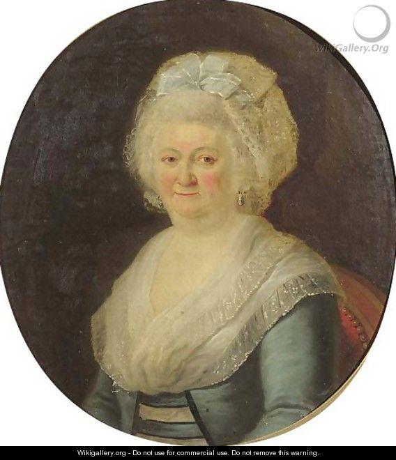Portrait of a noblewoman - (after) Joseph-Marie Vien