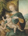 The Virgin and Child with Saint John The Baptist - (after) Cleve, Joos van