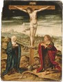 The Crucifixion with the Virgin and Saint John the Evangelist - (after) Cleve, Joos van
