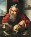 Saint Jerome in his Study 3 - (after) Cleve, Joos van