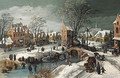 A village in winter - (after) Joos Or Josse De, The Younger Momper