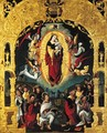 The Immaculate Conception, with adoring saints, within a feigned Mannerist portico - (after) Lanceloot Blondeel