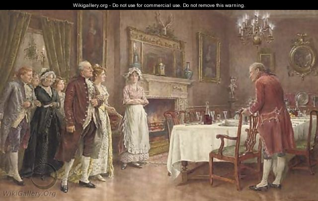 Placing the guests on Christmas Eve - George Goodwin Kilburne