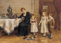 Tea in the nursery - George Goodwin Kilburne