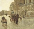 Rokin with the Nieuwezijdskapel, Amsterdam - George Hendrik Breitner