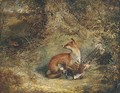 A fox with a pheasant - George Havell