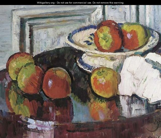 Still life with apples - George Leslie Hunter