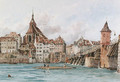 Amiens from the river, France - George Arthur Fripp
