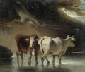 Cattle at a Pool - George Chinnery