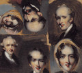 Portrait studies of six figures - George Chinnery