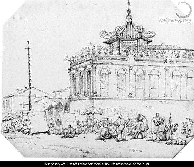A Chinese Temple, Macao - George Chinnery