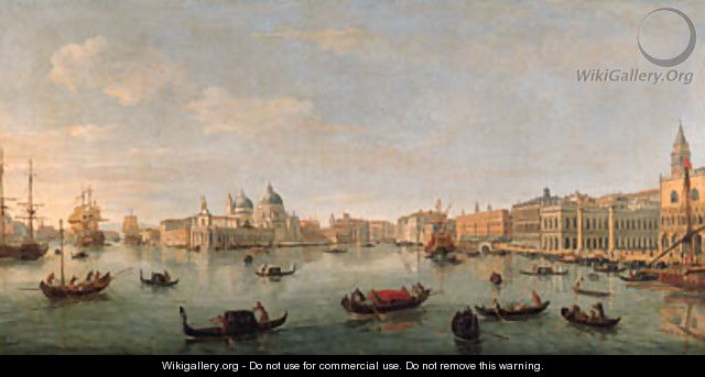 The Bacino di San Marco, Venice, looking west towards the mouth of the Grand Canal, the Doge