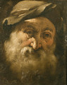 Head of a bearded old Man - Genoese School