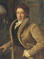 Portrait of a young gentleman in an interior - French School