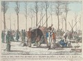 Bivouacdes troupes Russes aux Champs Elisees a Paris au 31 Mars 1814 - French School