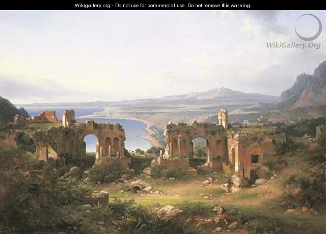 View of Taormina - French School