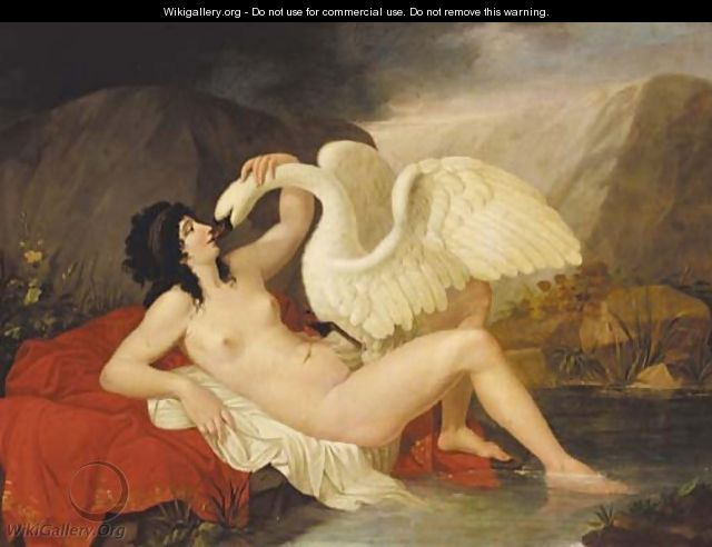 Leda and the swan 3 - French School