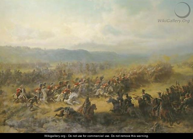 Battle of Balaklawa at the Sapoune Heights on the Crim (25th of October 1854) - Friedrich Kaiser