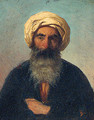 A bearded Man with a Turban - French School