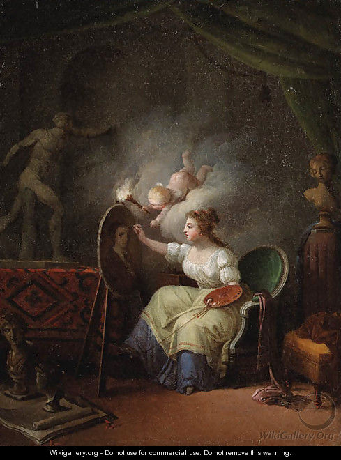 An Allegory of Painting - French School