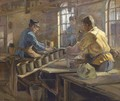 Turning the clay in the pottery - G. Horning Jensen