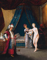 A sultan receiving a maiden in his bedchamber - French School