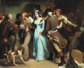 The arrest of Charlotte Corday for the murder of Jean-Paul Marat - French School
