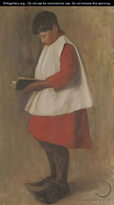 Portrait of a chorister - French School