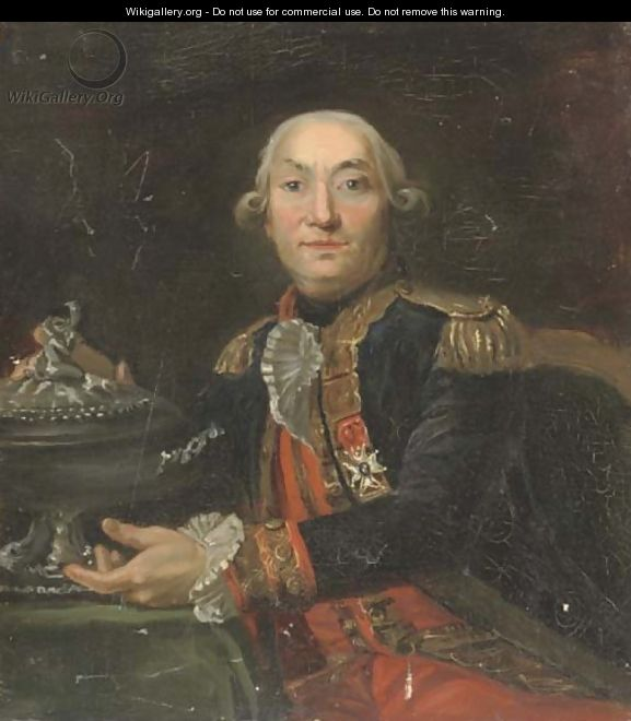Portrait of a Capitaine de Vaisseau in the French navy - French School