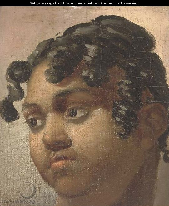 The head of a black girl - French School