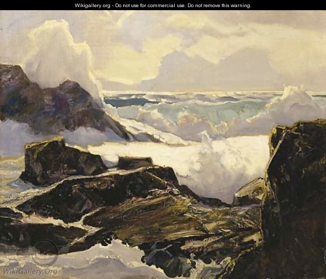 At High Tide - Frederick Judd Waugh