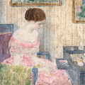 Woman with Jewels - Frederick Carl Frieseke