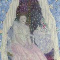 Study for Blue Curtains - Frederick Carl Frieseke