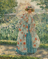 Promenade in the Garden - Frederick Carl Frieseke