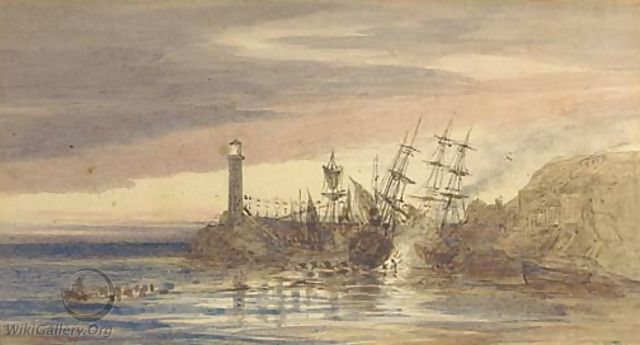 Old Ramsgate Harbour - Frederick Richard Pickersgill