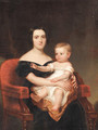 Portrait of Frances Pierpont Raymond Hunt and Daughter, Frances Helen Hunt, Age 2 - Frederick R. Spencer