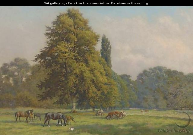 Autumn in the pastures, Epsom - John Frederick Lewis