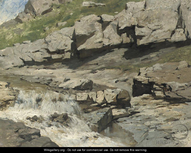 Study of a mountain stream - Franz Roubaud