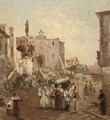 A procession in Southern Italy - Franz Richard Unterberger