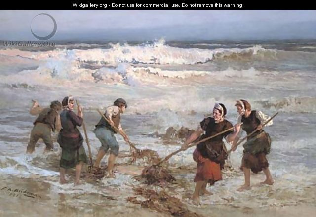 The seaweed gatherers - Frederick Arthur Bridgman