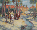 Riding through an Oasis - Frederick Arthur Bridgman