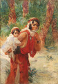 Algerian mother and child - Frederick Arthur Bridgman