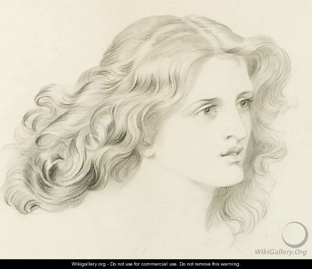 Head of a young girl - Frederic James Shields