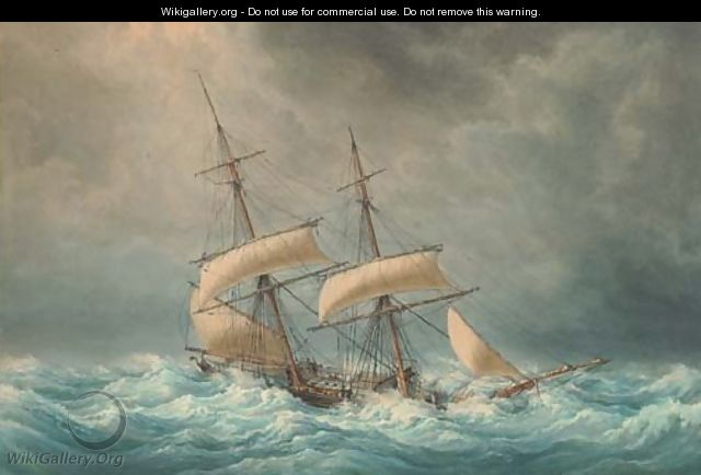 The Francois-Georges reefed down in heavy seas - Francois Geoffroy Roux