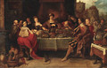 King Midas at the table - Frans I Francken