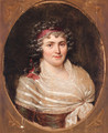 Portrait of Jeanne Robertine, Marquise d'Orvillier, nee Rillet (1772-1862), half-length, in a lace fichu and a red bandeau - Francois-Xavier Fabre