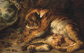 Tiger with Cubs - Josef Bche
