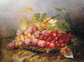 Still Life with Grapes, Plums and Strawberries - Joseph Eugene Gibault